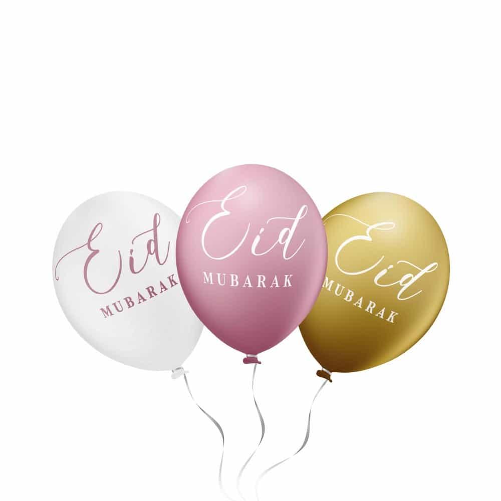 Eid Mubarak Ballonnen (6 stuks) div. kleuren