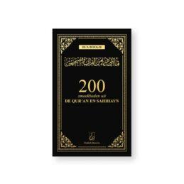 200 Smeekbeden uit de Qur'an en Sahihayn - Zwart/Goud