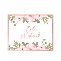 Eid Mubarak Placemats Rose Gold